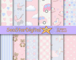 baby shower paper baby girl digital papers baby shower paper nursery girl paper