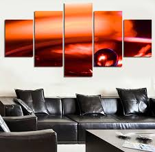 5 piece sell modern wall art painting new york orange scenery