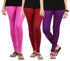 light pink leggings womens combo of 3 cotton lycra regular fit leggings in light pink maroon