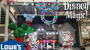 shop with me lowes christmas decorations disney 2017 youtube
