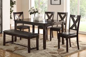casual dining chairs poundex associates item f2297 6 pcs dining table set