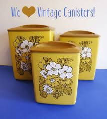 yellow kitchen canister set 129 best yellow canisters images on vintage kitchen