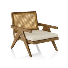 Modern Teak Outdoor Furniture by A Contemporary Teak And Wicker Outdoor Occasional Chair
