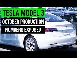 tesla model 3 october production numbers exposed youtube