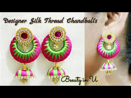 Earrings Silk Thread Designs