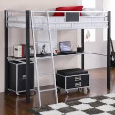 Full Size Bunk Bed With Desk Underneath Ottomans  Storage - Full size bunk bed with desk