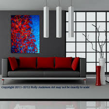 modern living room art contemporary abstract painting for modern spaces autumn at night
