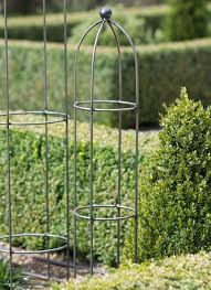 barrington obelisk plant support extra small raw metal garden