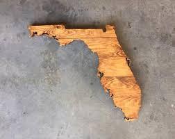 florida wood wooden florida state sign florida wood sign florida wall