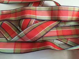 taffeta ribbon vintage plaid taffeta ribbon green purple and white