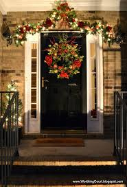 Outdoor Christmas Garland by 228 Best Christmas Entryways Images On Pinterest Christmas Ideas