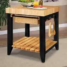 Kitchen Island Prep Table by Powell Furniture Color Story Black Butcher Block Kitchen Island