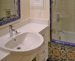 semi recessed bathroom sinks majolica tile and a semi recessed sink mediterranean bathroom
