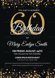 birthday invite template invitation sle for 60th birthday 60th birthday invite