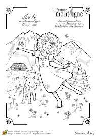 épinglé par ❃❀CM❁✿Dessin illustrant le livre Heidi dans les