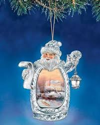 kinkade heirloom santa ornament collection santa