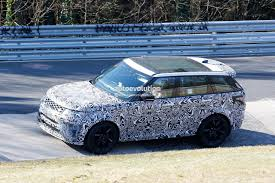 range rover sport 2018 range rover sport svr shows production lights exhaust tips