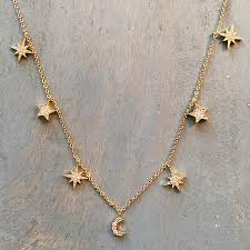 charm necklace star images Cz diamond mixed star 7 charm necklace new charis jewel jpg