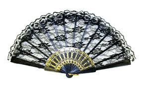 black lace fan black lace fan costumes au