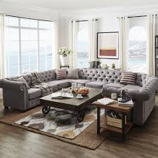 Chesterfield Sectional Sofa Importance Of U Shaped Sofa In The Furniture Market