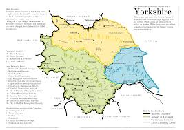 Map Of England With Cities by Yorkshire County Wise