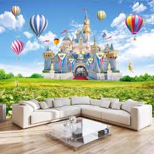 online get cheap for kids 3d wall painting wallpaper aliexpress custom 3d photo wallpaper children castle hd landscape photography background wall painting non woven wallpaper