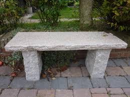 garden benches stone home outdoor decoration