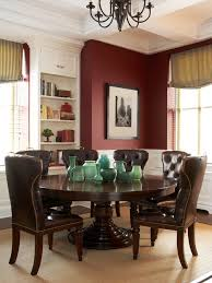 wall mirrors great traditional red dining room with teak wood