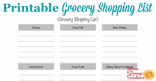 printable household shopping list free printable grocery shopping list template