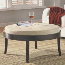 Home Design Ideas Interior Coffe Table Amazing Round Tufted Coffee Table Decorating Idea