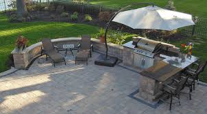 Kitchen With Bar Table - outdoor kitchen designs moscarino outdoor creations