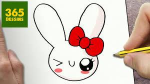 comment dessiner lapin kawaii étape par étape u2013 dessins kawaii