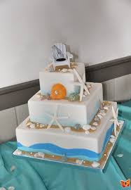 beach wedding cake full service catering and event planning
