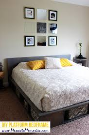 diy platform bed great how to install furniture feet how to build