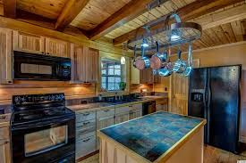 Galley Kitchen Island Kitchen Rustic Kitchen Blue Cathedral Ceiling Galley Kitchen