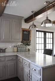 gray kitchen cabinets with white trim 37 simple diy kitchen makeover ideas