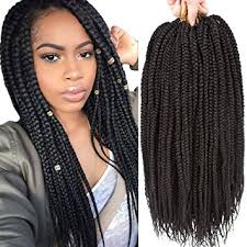 what kind hair use boxbraids amazon com vrhot 6packs 18 box braids crochet hair small