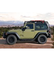 jeep wrangler 2 door hardtop 2017 jeep jk 2door stealth rack multi light setup gobi racks