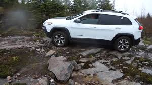 jeep trailhawk 2014 2014 jeep cherokee trailhawk off road in tremblant at the jamboree