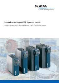 demag dedrive compact sto frequency inverters terex cranes