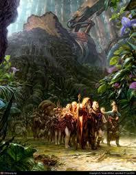 exodus of the tree elves by artvandeley 2d cgsociety