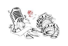 17 microphone drawings