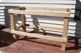 Wooden Potting Benches Diy Potting Bench With Dad From Thrifty Decor