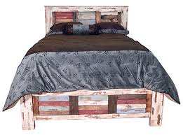 Rustic Bedroom Furniture Set by Multicolor Louvered Rustic Bedroom Set Southwestern Rustic