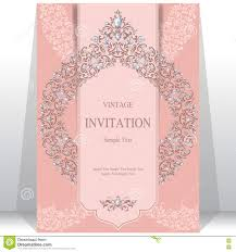 Invitation Cards For Muslim Wedding Wedding Invitation Or Card With Abstract Background Stock Vector