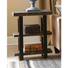 Distressed Wood End Table Rustic Coffee Console Sofa U0026 End Tables Shop The Best Deals