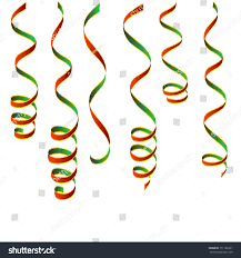 new years streamers christmas streamers green gold vector stock vector 751185931