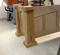 Woodworking Computer Desk Large Computer Desk Mission Style 2 Sides And Front Panel By