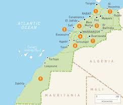 Interactive Map Of Africa by Map Of Morocco Morocco Regions Rough Guides