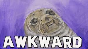 Awkward Seal Meme - awkward moment seal watercolor time lapse youtube